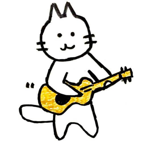 ギターねこのイラスト