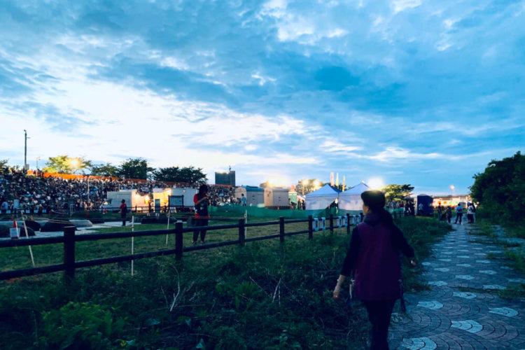 北区花火会場の写真
