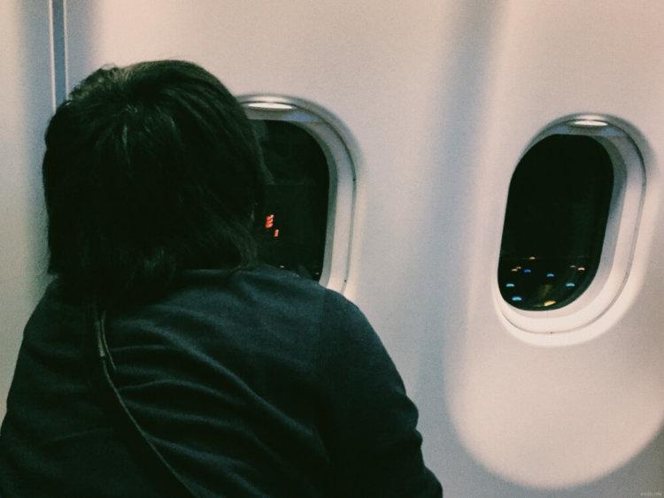 機内の写真