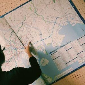 新しい路線図の写真