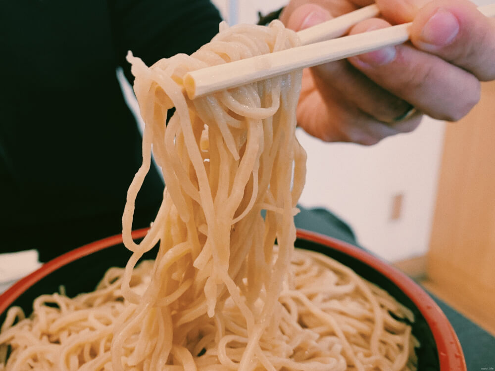 Great tasting soba noodles at Nagano Sta.