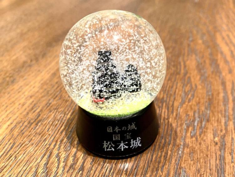 松本城のスノードーム2