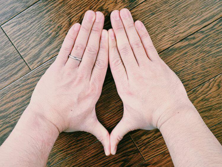 両手の写真