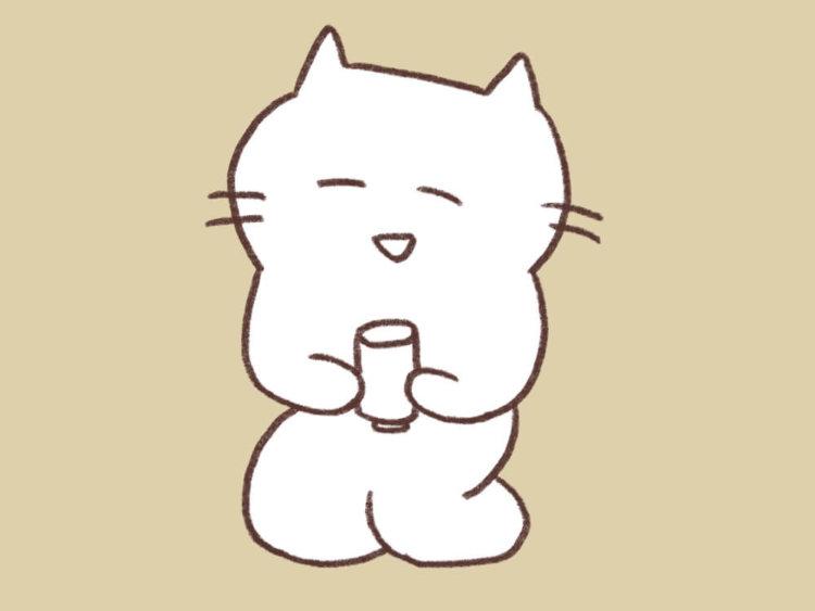 お茶猫のイラスト